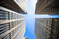 Nowy Jork drapaczy chmur widok Oddolny fotografia royalty free