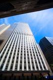 Nowy Jork drapaczy chmur widok Oddolny zdjęcie royalty free
