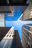 Nowy Jork drapaczy chmur widok Oddolny zdjęcia royalty free