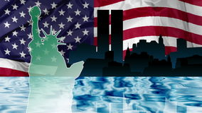 Nowy Jork dzień niepodległości ilustracji