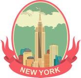 Nowy Jork etykietka ilustracja wektor