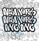 Nowy Jork Graffiti royalty ilustracja