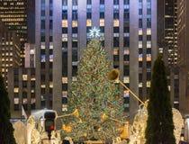 Nowy Jork, GRUDZIEŃ - 20, 2013: Choinka przy Rockefeller centem Fotografia Stock