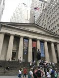 Nowy Jork Hall Georgo Waszyngton Federacyjna statua obraz stock