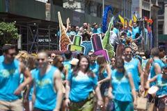 Nowy Jork Homoseksualna duma Marzec Fotografia Royalty Free