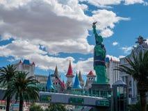 Nowy nowy Jork hotelowy kasyno tworzy imponująco Miasto Nowy Jork linię horyzontu z drapaczem chmur góruje zdjęcia royalty free