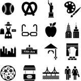 Nowy Jork ikony ilustracji