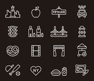 Nowy Jork ikony royalty ilustracja