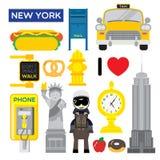Nowy Jork, jeden popularna metropolia w świacie royalty ilustracja