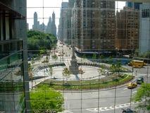 Nowy Jork Kolumb okrąg od Time Warner budynku okno zdjęcia stock