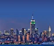 Nowy Jork linia horyzontu z empire state building Zdjęcie Royalty Free