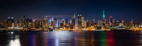 Nowy Jork linii horyzontu panorama obrazy royalty free