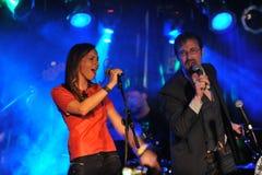 NOWY JORK LUTY 27: Muzyki grupy Inside kieszeń wykonuje na scenie podczas rosjanin skały festiwalu przy Webster Hall Zdjęcie Royalty Free