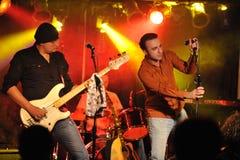NOWY JORK LUTY 27: Muzyki grupy ojciec Sam wykonuje na scenie podczas rosjanin skały festiwalu przy Webster Hall Obraz Royalty Free