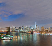 nowy Jork Manhattan linia horyzontu od Manhattan mosta Obrazy Royalty Free