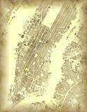 Nowy Jork mapa, satelitarny widok, Usa Stara mapa Manhattan ilustracji