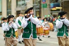 NOWY JORK, MARZEC - 17, 2015: Rocznika St Patrick dnia parada wzdłuż fifth avenue w Miasto Nowy Jork obrazy royalty free