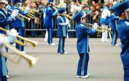 NOWY JORK, MARZEC - 17, 2015: Rocznika St Patrick dnia parada wzdłuż fifth avenue w Miasto Nowy Jork obraz stock