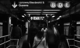Nowy Jork metra MTA dojeżdżających godzina szczytu pracy Podróżować zdjęcie stock