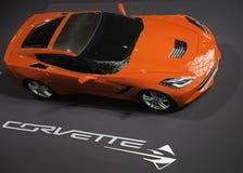 Korwety Stingray pokazujący przy Nowy Jork Auto przedstawieniem Obraz Stock