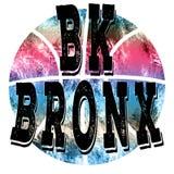 Nowy Jork miasta Bronx koszykówki sztuka Uliczny grafika styl NYC Fotografia Stock