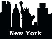 Nowy Jork miasta sylwetka Nowy Jork royalty ilustracja