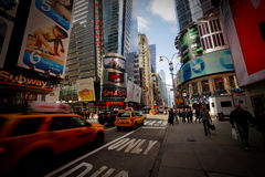 Nowy Jork miasta taksówki Obrazy Royalty Free