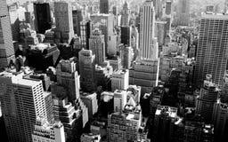 Nowy Jork miasto w czarny i biały Obraz Royalty Free
