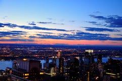 Nowy Jork miasto w zmierzchu zdjęcie stock