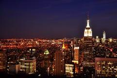 Nowy Jork miasto w zmierzchu fotografia stock