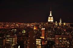 Nowy Jork miasto w zmierzchu obrazy stock