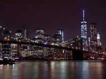 Nowy Jork nocą - usa Ameryka obrazy royalty free