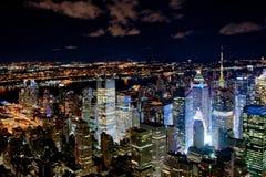 Nowy Jork nocy pejzaż miejski Obrazy Stock