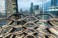 Nowy Jork, NY - Marzec 15 2019: Naczynie budynek w Hudson jardach Manhattan Otwierał zdjęcie royalty free