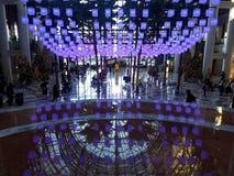 Nowy Jork, NY usa, Grudzień 18, 2018, atrium przy Brookfield miejscem obrazy royalty free