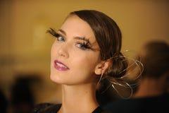 NOWY JORK, NY - WRZESIEŃ 04: Model uczęszcza Pamela Gonzales prezentację Zdjęcie Royalty Free