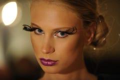 NOWY JORK, NY - WRZESIEŃ 04: Model uczęszcza Pamela Gonzales prezentację Zdjęcia Royalty Free