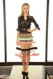 NOWY JORK, NY - WRZESIEŃ 03: Modela pozy przy Alina niemiec prezentacją Fotografia Royalty Free