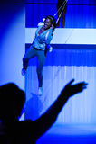 NOWY JORK, NY - WRZESIEŃ 03: Model wykonuje podczas Athleta pasa startowego przedstawienia Zdjęcia Royalty Free