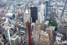 Miasto Nowy Jork Manhattan linii horyzontu widok Zdjęcia Stock