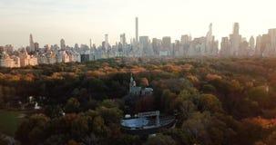 Nowy Jork panorama od centrala parka widok z lotu ptaka zdjęcie wideo
