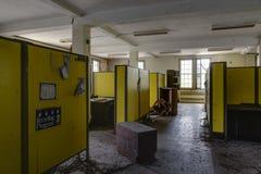 Nowy Jork rocznik kabinki Zaniechany szpital, Sanitarium -/- obraz royalty free