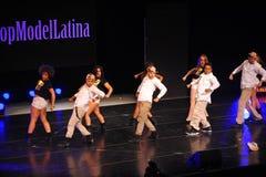 NOWY JORK, SIERPIEŃ - 08: Występy przy Top Model Latina 2014 Zdjęcia Stock
