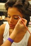 NOWY JORK, SIERPIEŃ - 08: Wzorcowy dostaje przygotowywający zakulisowy przy Top Model Latina 2014 Obrazy Stock