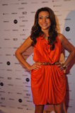 NOWY JORK, SIERPIEŃ - 08: Ogólna atmosfera przy czerwonym chodnikiem przed Top Model Latina 2014 Zdjęcia Royalty Free