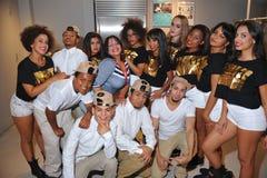 NOWY JORK, SIERPIEŃ - 08: Ogólni tancerze przy Top Model Latina 2014 i atmosfera Obrazy Stock