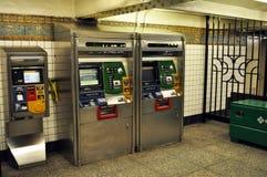 Nowy Jork staci metru bileta kiosk Zdjęcie Stock