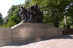 NOWY JORK STANY ZJEDNOCZONE, SIERPIEŃ, - 25th, 2016: WWI pomnik dla 7th pułku Nowy Jork pospolite ruszenie - USA 107TH, Nowy Jork Zdjęcie Royalty Free
