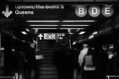 Nowy Jork Tłoczył się stacja metra dojeżdżających miasta godzina szczytu styl życia fotografia stock