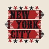 Nowy Jork typografia, koszulka NY, projekt grafika royalty ilustracja